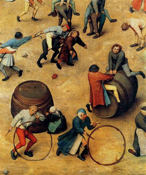 clio team 1560 bruegel l ancien jeux d enfants detail cerceaux sets of children cerceaux