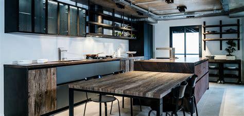 cuisine style industrielle cuisine style atelier cloison en verre style atelier