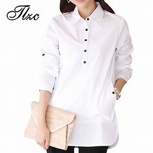 Elegant Blouse White Shirt Women Size S 3XL Ladies Office ...