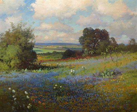 robert wood texas bluebonnets painting  paintings