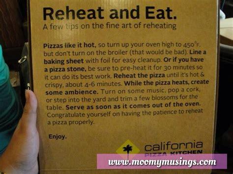 california pizza kitchen reheating instructions hubby