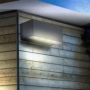 Wand Außenleuchten Led : led wand leuchte alu up down lampe au en spot strahler ~ A.2002-acura-tl-radio.info Haus und Dekorationen