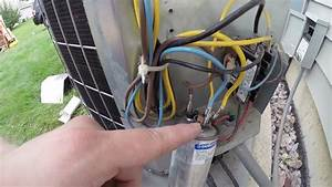 Carrier Air Conditioning Unit Repair  Capacitor Replacement