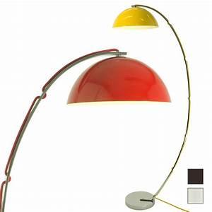 Stehlampe Retro Design : retro stehleuchte london mit halbkugel und bogenarm casa lumi ~ Frokenaadalensverden.com Haus und Dekorationen