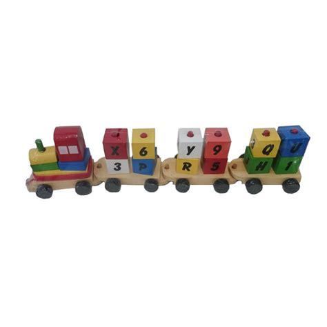 jual istana bintang kayu kereta huruf dan angka mainan anak online harga kualitas terjamin