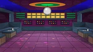 A Groovy Looking Nightclub Dance Floor Background Cartoon ...