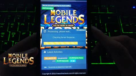 Mobile Legends Hack For Android And Ios! Free Diamonds And