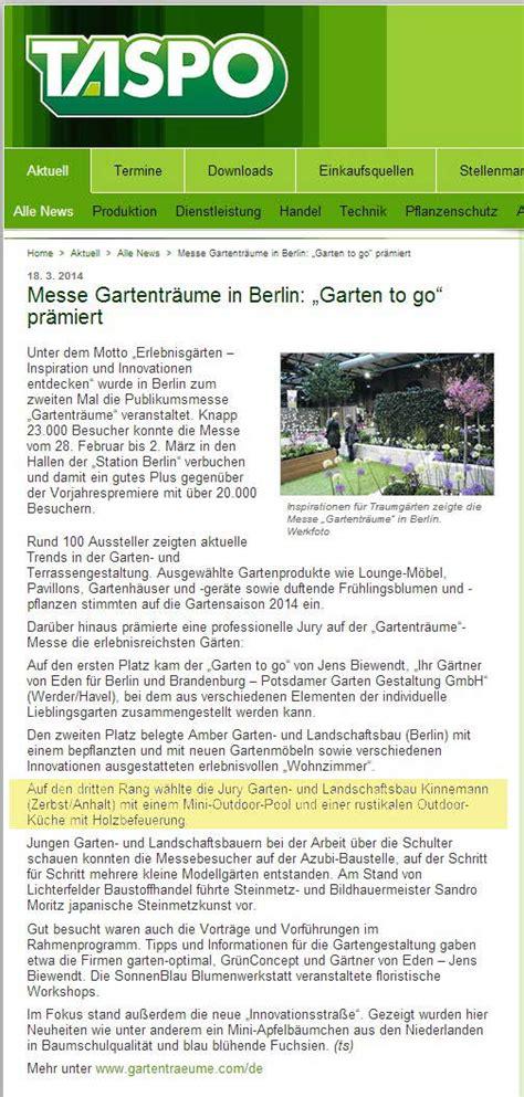 Garten Und Landschaftsbau Berlin Weißensee by Garten Und Landschaftsbau Kinnemann Presse