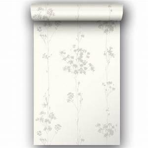 Papier Peint Blanc Relief : papier peint intiss lucia blanc leroy merlin ~ Melissatoandfro.com Idées de Décoration