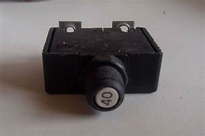 Bussman 40a Circuit Breaker Manual Push Button Reset