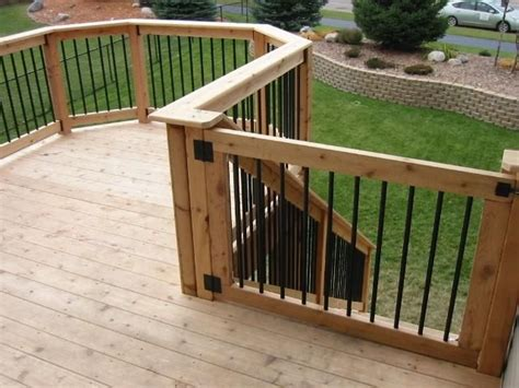 outdoor gate for deck stairs how to install a diy deck gate handyman matters 7227