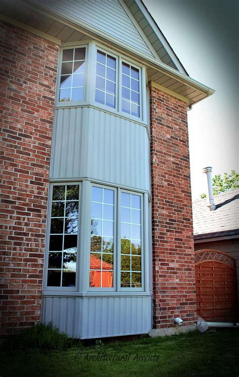 wood clad aluminum bay windows gray aluminum cladding