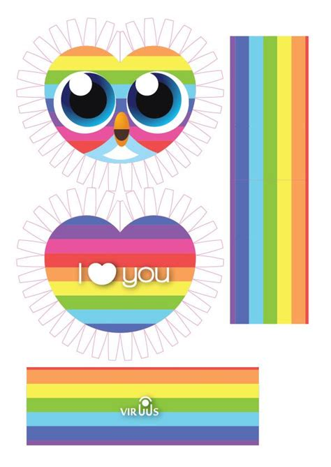 owl paper toys the new i rainbow owl paper 2590