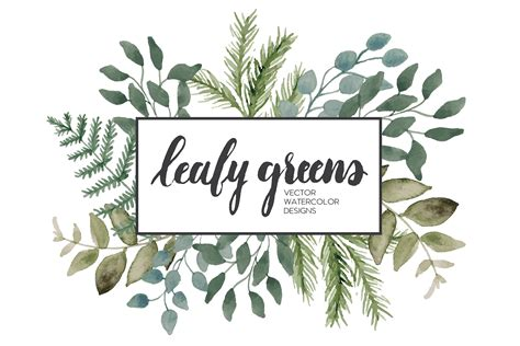 Made Goods Furniture by Leafy Greens Vector Watercolor Illustrations Creative
