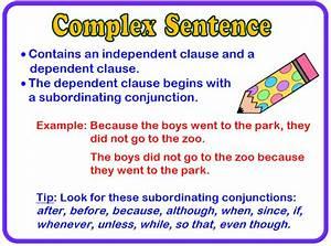 Complex Sentence - Mrs. Glover's 4th Grade Class