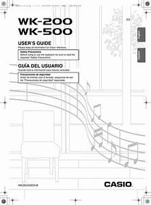 Casio Keyboard Wk200 Users Manual Wk200 Wk500 E