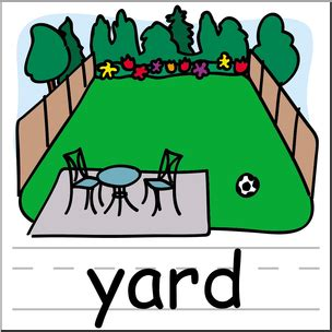 Is Backyard One Word by Clip Basic Words Yard Color Labeled I Abcteach