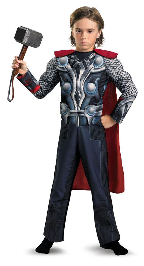 boys thor light  muscle chest avengers kids costume