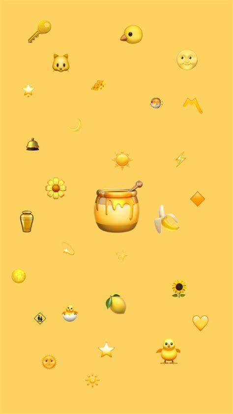 emoji mustard yellow wallpaper   emoji wallpaper