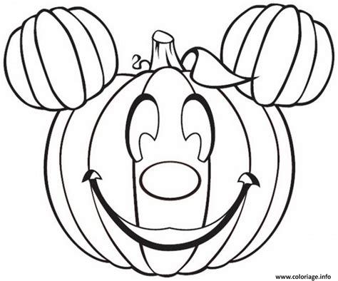Coloriage Citrouille Halloween Disney Mickey Dessin