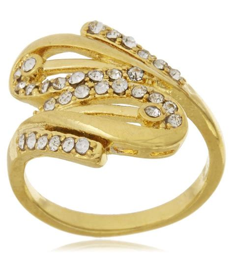 Gb Jewellery 18kt Gold Plated Ring Buy Gb Jewellery 18kt