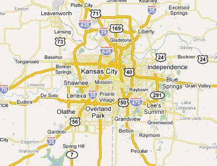 Map of Missouri Kansas City Metro Area