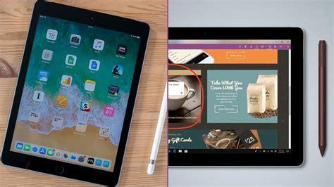 ipad   microsoft surface  budget tablet head