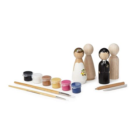 diy wedding cake topper kit crafts bride and groom