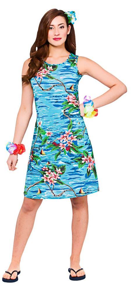 Hawaiian Ladies Fancy Dress Tropical Beach Hawaii Womens Adults Costume Outfit   eBay