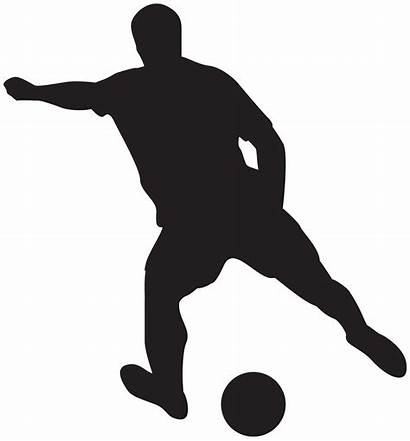 Soccer Player Clipart Silhouette Silhouettes Transparent Yopriceville