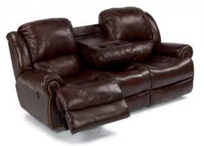 flexsteel living room leather power reclining sofa 1311