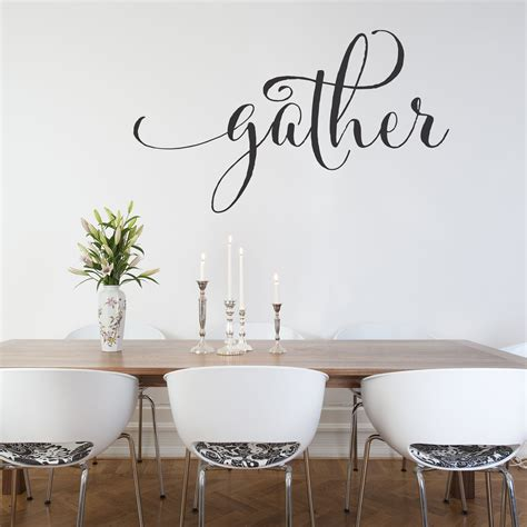 Is your dining room in want a more bit attention? Gather / Wall Decal - Gather Wall Decal fo Kitchen