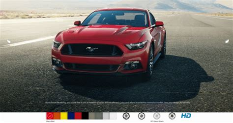 2015 ford mustang all 10 colors in animated turntables