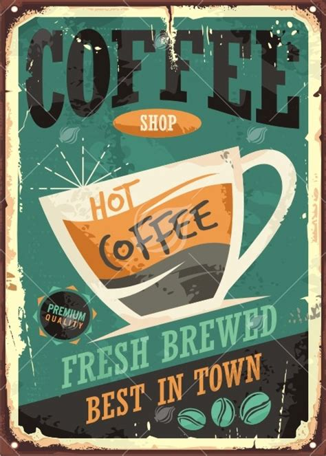 Shop posters in a variety of sizes and designs to find the perfect fit for your room. Coffee Shop Retro Poster Design - Lukeruk