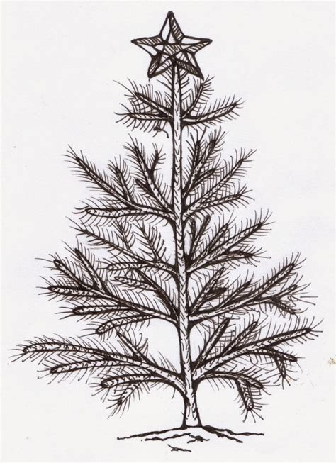 christmas tree drawing in pencil pencil drawing of tree drawing pencil