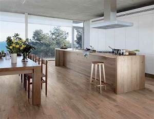 carrelage imitation parquet idees pour l39interieur moderne With carrelage imitation parquet cuisine