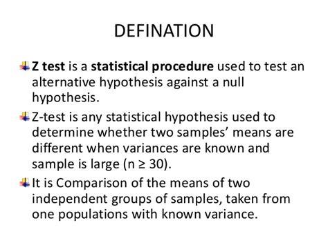 test examples statistical ztest procedure