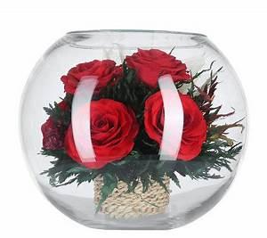 Rosen Im Glas : pur fleur echtblumen rosen im runden glas h ca 15cm page 1 ~ Eleganceandgraceweddings.com Haus und Dekorationen