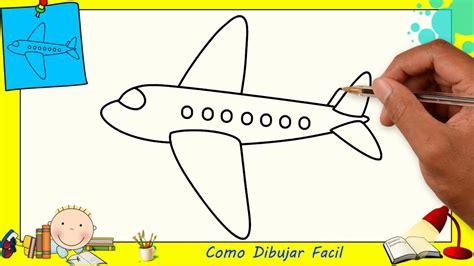 Dibujos de avions FACILES paso a paso para niños Como