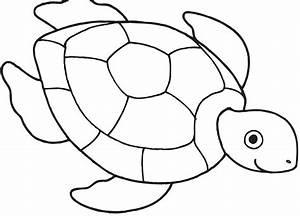 Sea Turtle Clipart Outline - ClipartXtras