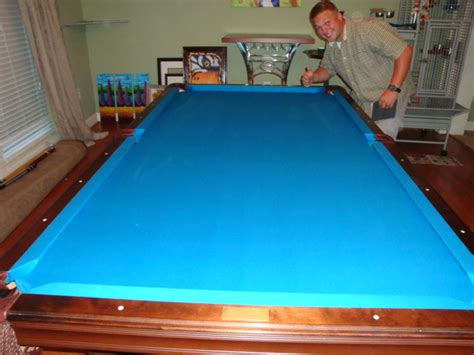 tournament blue pool table felt w e m distributors before after 1 of 2