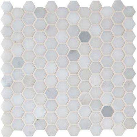 Home Depot Merola Hex Tile by Mosaic Tile Tile The Home Depot