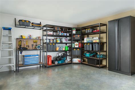 how to turn your garage from junkyard to storage central better homes and gardens