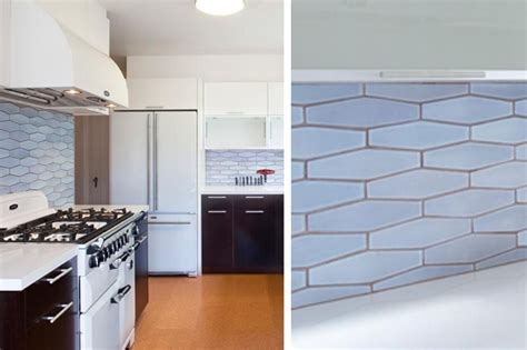 heath ceramics stretched hexagon backsplash tiles diamond