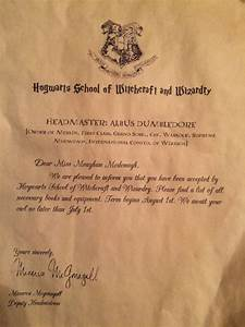 personalized hogwarts acceptance letter by With personalised harry potter letter