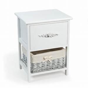 Maison Du Monde Chevet : table de chevet en bois blanc l 36 cm rosa maisons du monde ~ Teatrodelosmanantiales.com Idées de Décoration