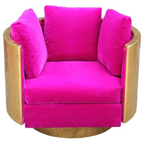 ultra glam gold leaf and pink velvet swivel lounge
