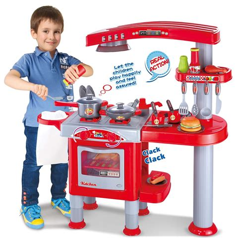 play kitchen with sounds and lights vinsani electronic deluxe pretend play kitchen 9143