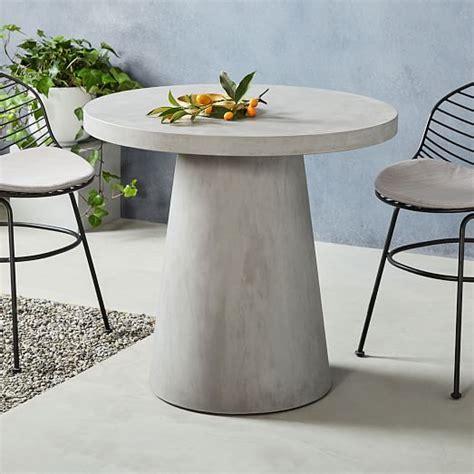 Pedestal Outdoor Bistro Table   west elm
