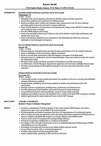 Sample Utility Maintenance Resume Format